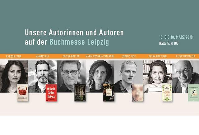 Unsere Autorinnen und Autoren auf der Buchmesse Leipzig