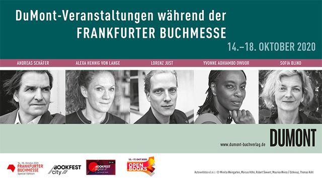 DuMont-Veranstaltungen während der Frankfurter Buchmesse