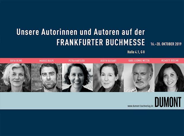 Unsere Autorinnen und Autoren auf der Frankfurter Buchmesse 2019