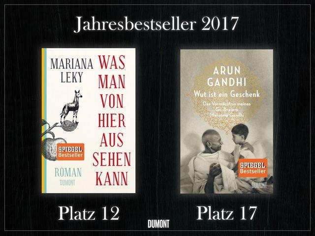 Zwei DuMont-Bücher auf der Jahresbestsellerliste vertreten